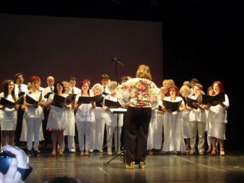 The choir of the conservatory of municipality of Kalamaria